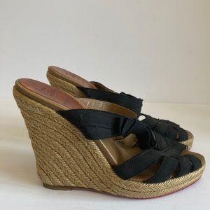 CL wedges summer sandal 37 $959 black